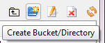 Create a bucket in S3 Organizer via the toolbar