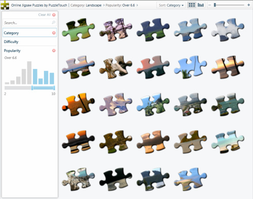 Online Jigsaw Puzzle Catalog Viewer
